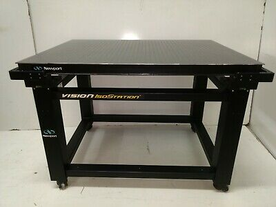 Crated Newport Vision Isostation Optical Table Casters Breadboard Lab