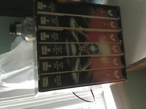 Original six Star Trek movies vhs