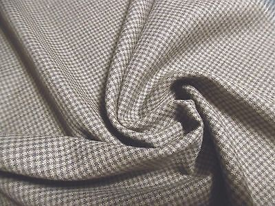 """WOOL BLEND SUITING~MICRO CHECK~CHARCOLE/OLIVE~LT.WEIGHT~18""""x30""""~ DOLL FABRIC"""