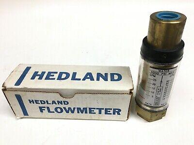Hedland 705025 In-line Flow Meter 25 Gpm 3000 Psi Water 34 Npt Thread Brass