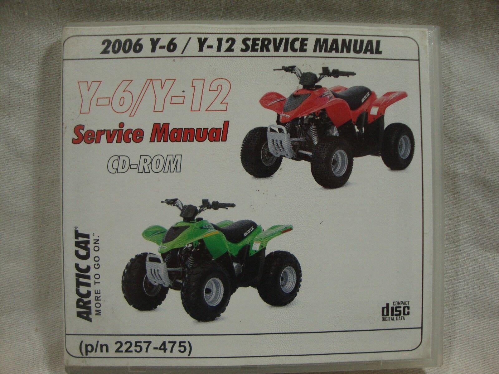 2006 Arctic Cat Y-6 Y-12 youth ATV factory service repair manual CD 2257-475