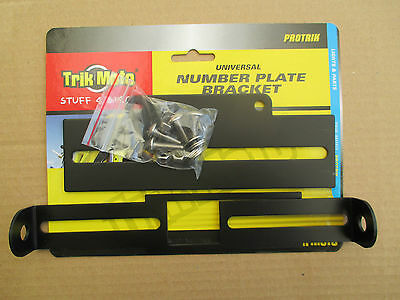 TRIK MOTO BLACK PLATE MATE UNIVERSAL NUMBER PLATE BRACKET TAIL TIDY BRACKET