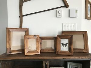 (5) Wood Picture Frames (4x6, 5x7, 8x10)