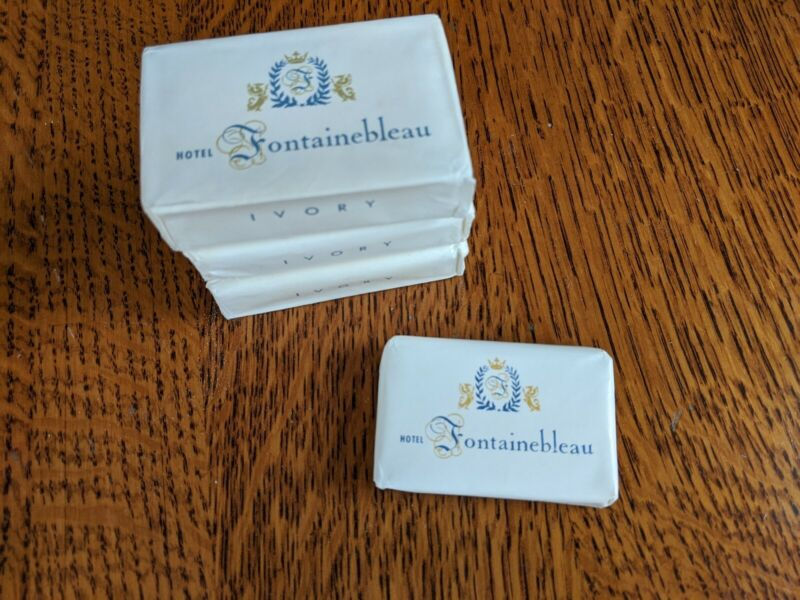 Lot Of Rare Hotel Fontainebleau Soaps - Smells like your 1960