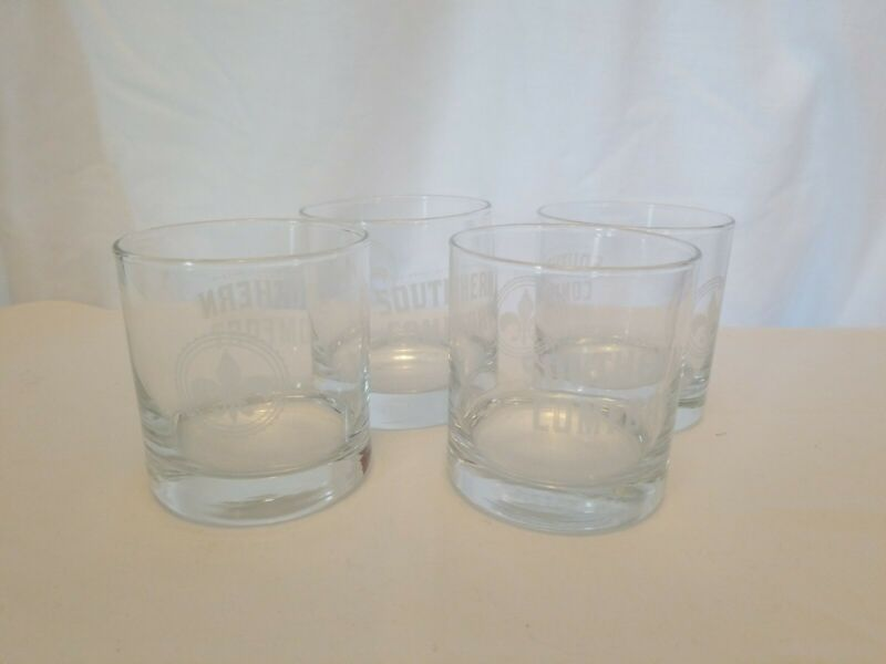 Set Of Four Southern Comfort Whiskey The Spirit Of New Orleans Glasses