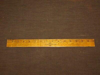 Vintage Crystal Finish 15 Falcon Desk Wood Ruler