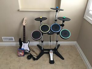 PLAYSTATION (PS4) - ROCKBAND - COMPLETE SET W CYMBALS