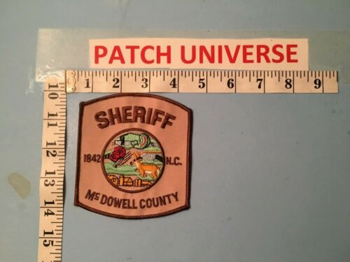 McDOWELL COUNTY NC SHERIFF  SHOULDER  PATCH  O009
