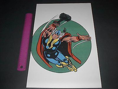 MARVEL COMICS SUPER-HEROES THOR POSTER PIN UP OLD SCHOOL STYLE