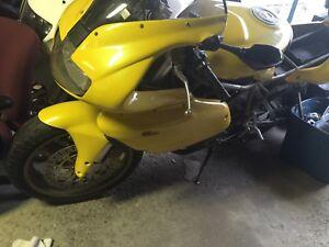 Cracked frame Ducati