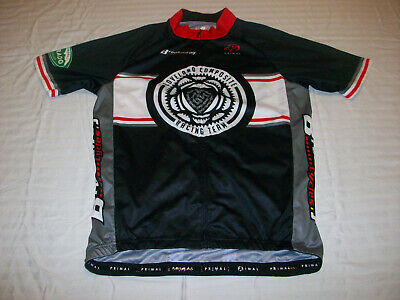 New Primal Men Team Bio-Rad Bike Green Raglan Short Sleeve Medium Cycling Jersey
