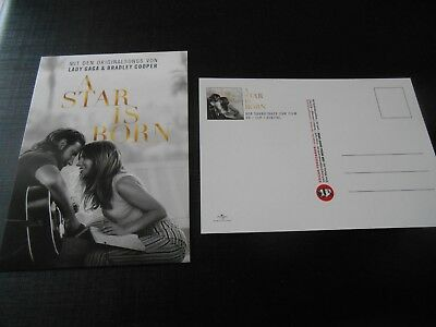EDGAR # 23.967 A STAR IS BORN Lady GaGa & Cooper Flyer Karte Neu Postkartengröße