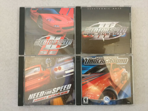 Need For Speed PC CD Games II SE III Hot Pursuit High Stakes Underground Lot 4