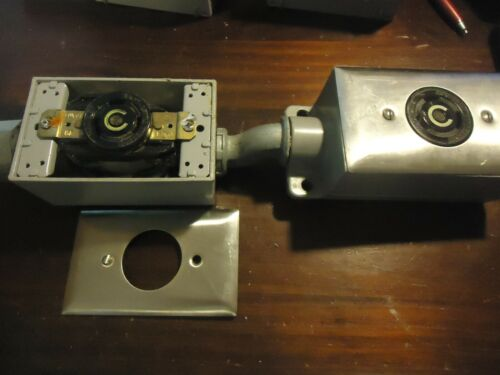 2-- Hubbell 30 Amp 125v Twist Lock Receptacles In Boxes