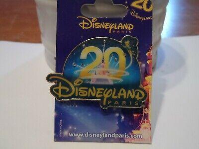 Disneyland Paris 20 Years Celebration Disneyland Paris Disney Trading Pin!