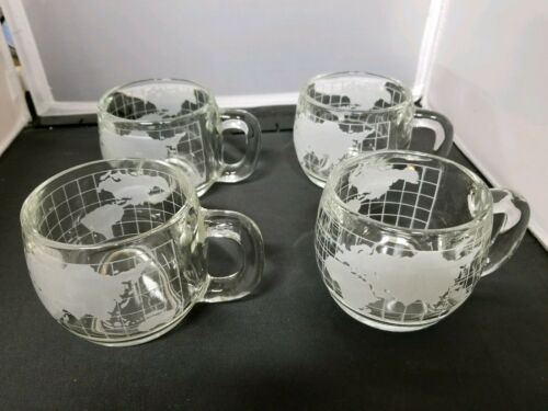 Nestle NESCAFE World Globe Set of 4 Mugs Great condition!