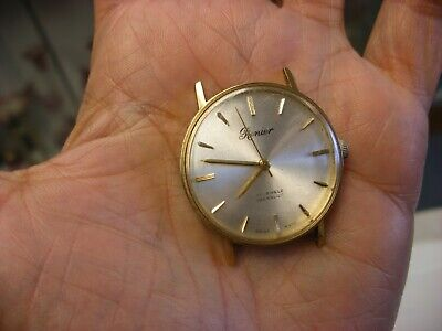 Vintage Renier 17 Jewels Incabloc Plaque G10 Swiss Wrist Watch - Not working!