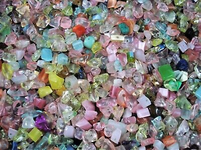 Jewellery - Crystal Glass Chips 100g Mix Jewellery DIY Necklace Bracelet Spacer FREE POSTAGE
