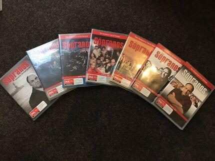 The Sopranos Seasons 1 to 6 DVD's