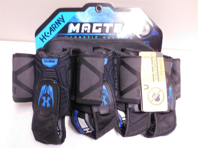 HK Army Paintball Harness 4+7 Magtek Black and Blue Tournament Xball