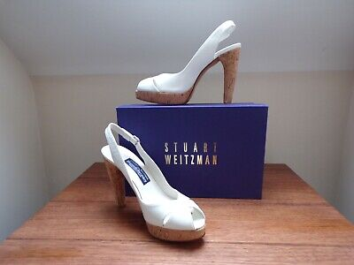STUART WEITZMAN RUSSELL & BROMLEY WHITE PATENT SHOES SIZE US 8 UK...