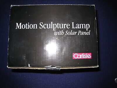 - CARLISLE MOTION SCULPTURE LAMP WITH SOLAR PANEL DESIGN BY ISHIGURO - NEW