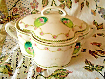 Antique Rosenthal R C Bavaria Crysantheme Porcelain  Biscuit Jar with lid~Fancy~