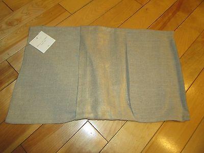 Restoration Hardware Metallic 100% Linen Pillow Cover Gold 13x21 Rectangular