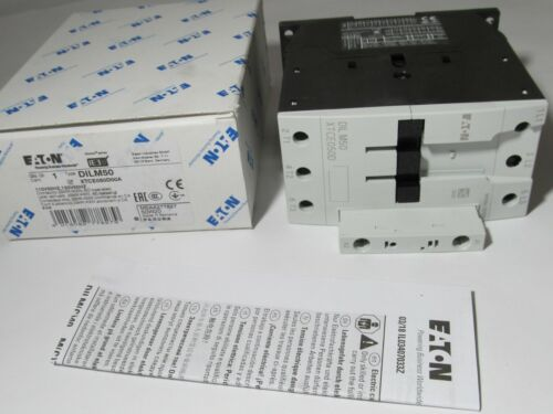 NEW EATON DILM50 XTCE050D00A 110V/120V COIL 3-POLE 50A MAGNETIC CONTACTOR