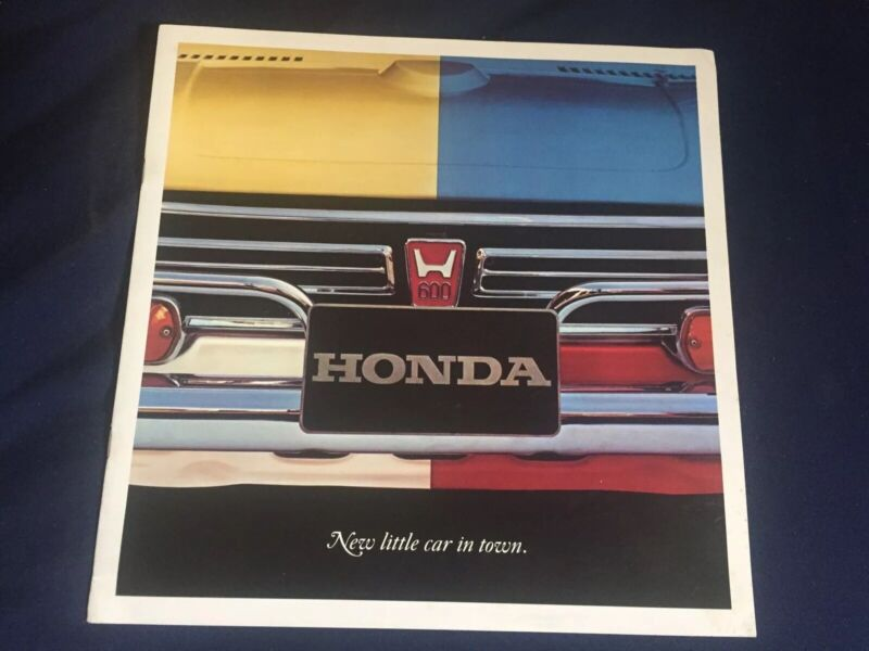 1970 Honda 600 USA Color Brochure Catalog Prospekt