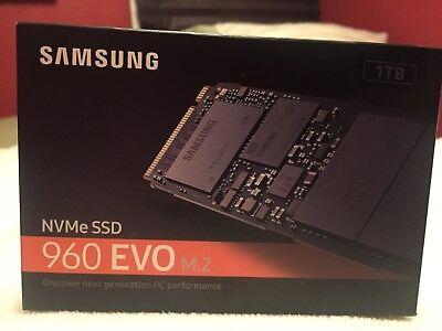 Samsung 960 EVO Series 1 TB NVMe M.2 Internal SSD new in unopened box