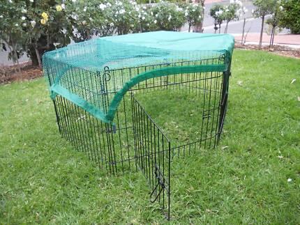 76cm 6 Panel Pet Pen Dog Puppy Rabbit Enclosure playpen w. cover