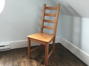 Tall wood chair