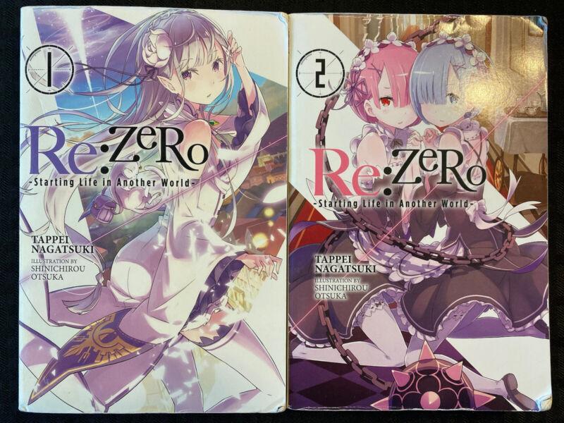 Re: Zero Starting Life In Another World 1, 2 Light Novel Fantasy English Manga