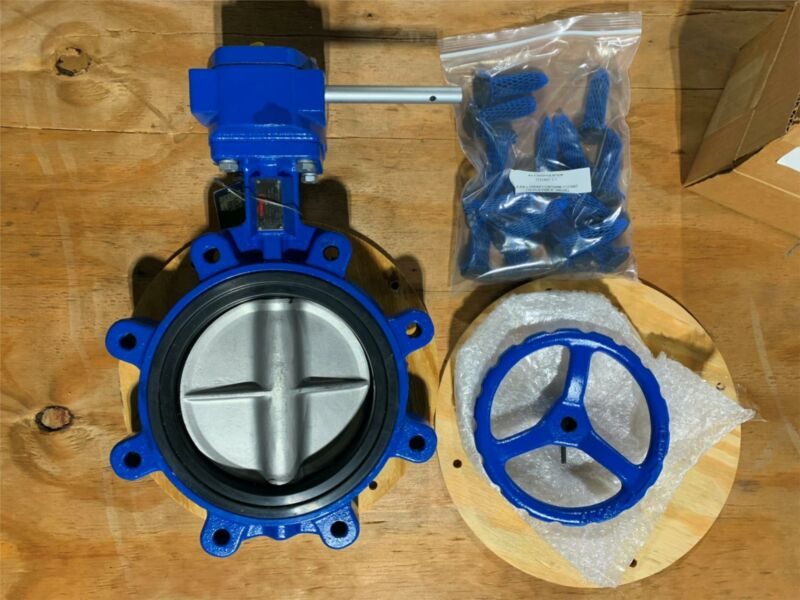 "1x NEW FLOWSERVE 8"" Lug Butterfly Valve-CF3M Disc-EPDM Seat-316 SS Shaft-Gear OP"