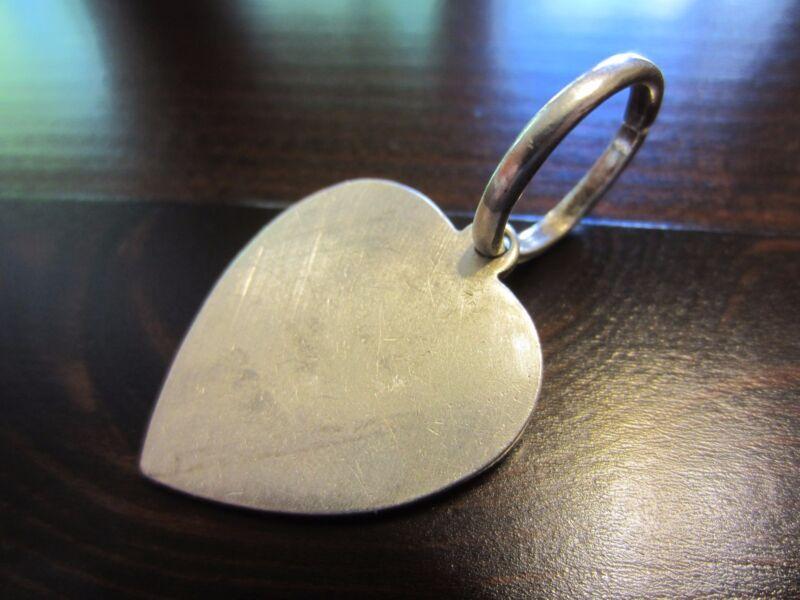 Sterling Silver Huge Unique VTG Heart Pendant or Charm 8 Gr.