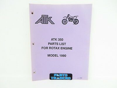 Genuine ATK Dealer Spare Parts List Catalog Manual 1990 350 Rotax Engine