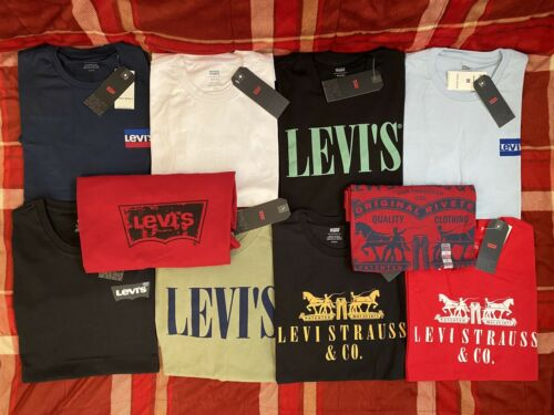Levis Men's T Shirt Classic Crew Neck - LOT OF STYLES Solid
