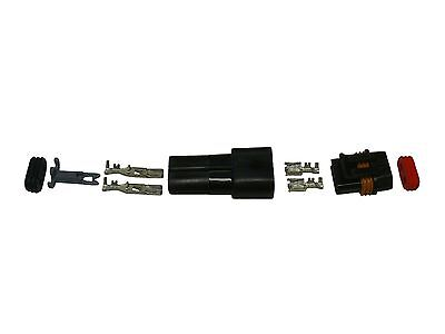 2 Pin Delphi Metri-pack Waterproof Connector 10-12awg Terminals And Seals 46amp