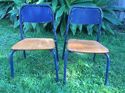 2 Steelux Small Vintage 1968 School Chairs