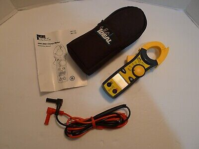 Ideal 400 Aac Clamp Meter W Instructions Case 61-732