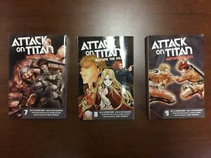Attack on titan before the fall manga vol 7-9