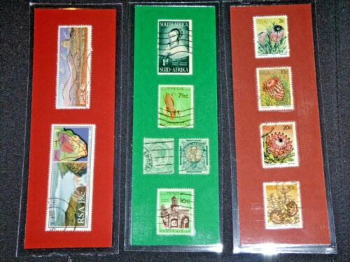 3 BOOKMARKS~SOUTH AFRICA Laminated POSTAGE STAMPS RSA  AFRICA