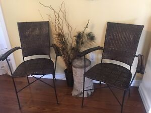 Set of 2 Pier One porch or patio chairs