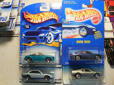 Hot WHEELS BMW LOT  4 Z3 ROADSTER CONVERTIBLE 850I M1 BLUE CARD LUXURY IMPORT