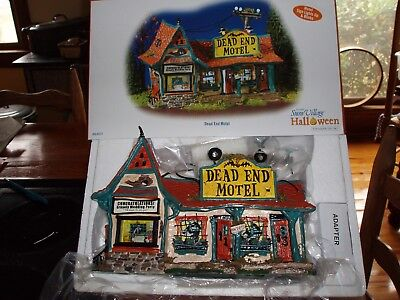 DEPT 56 HALLOWEEN Village DEAD END MOTEL *Excellent Store Display*