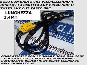 Cavo-AUX-Mp3-Alfa-159-Fiat-500-Grande-Punto-Evo-Panda-SOLO-se-Aux-a-display-1-4M