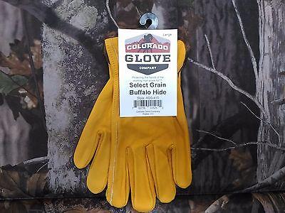 Colorado Glove Company Select Grain Buffalo Hide Leather Work Riding Gloves