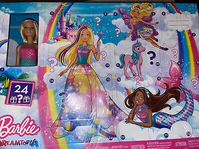 Barbie Dreamtopia Advent Calendar Blonde Doll 3 Fairytale Doll Fashions 24