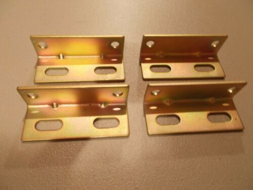 Heavy Duty Steel Right Angle Brackets--- Plated---(Lot of 20)